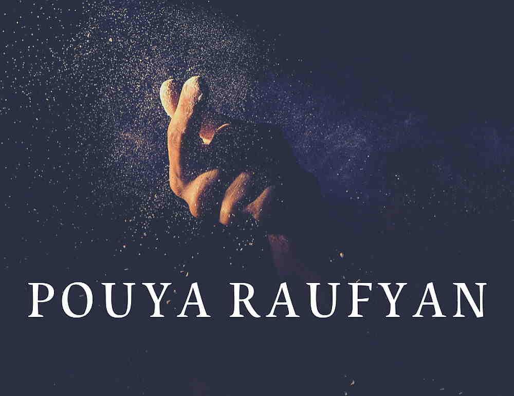 Schriftzug Farhad Jooyenda auf dem Sternenhimmel